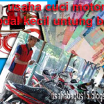 Peluang Usaha Bisnis Jasa Cuci Motor Modal Minim